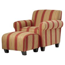 Raven Populuxe Arm Chair and Ottoman