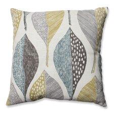 Hilldale Leaf Rain Cotton Throw Pillow