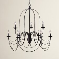Big Sky 9 Light Candle Chandelier