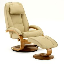 Flathead Lake Top Grain Leather Recliner and Ottoman