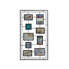 9-Opening Rectangle Geometric Collage Frame