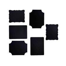 6 Piece Chalkboard Frame Set