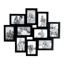 10 Picture Black Frame Set