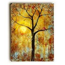 Red Birds Tree Painting Print