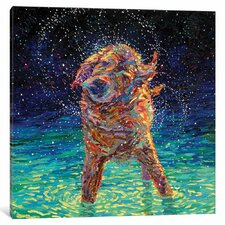 Moonlight Swim Painting Print on Wrapped Canvas