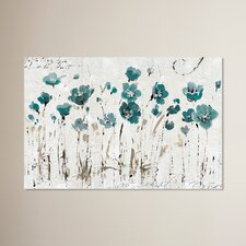 Abstract Balance Blue Painting Print on Wrapped Canvas