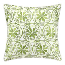 Sand Dollar Embroidered Linen Throw Pillow