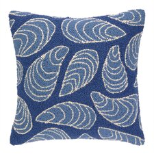 Mussels Hooked Wool Throw Pillow