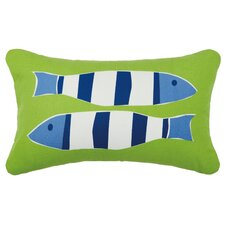 Nautical Outdoor Cotton Lumbar Pillow