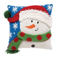 Snowman 3D Hooked Throw Pillow