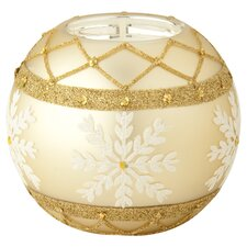 Gold & Pearl Snowflake Tealght (Set of 2)
