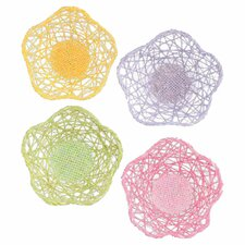 Paper Raffia Flower Table Fruit Basket (Set of 12)