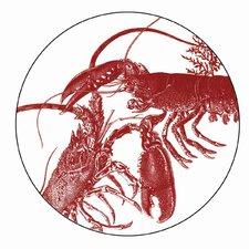 """Lobster 4"""" Melamine Wine Glass TidBit Topper Plate (Set of 4)"""
