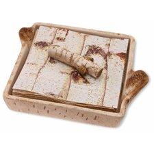 Birch Napkin Caddy with Weight