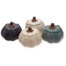 Pumpkin Stoneware Dining Bowl (Set of 4)