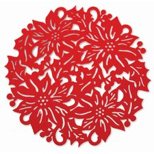 "15"" Poinsettia Placemat (Set of 4)"
