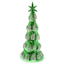 Snowy Glass LED Holiday Accent Tree