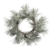 Snowy Pine Wreath with Cone