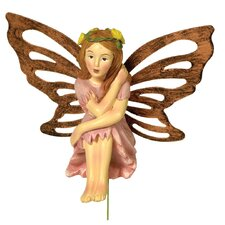 Fairy Becky Metal Wings Garden Stake (Set of 2)