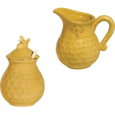 Honeycomb Sugar and Creamer Set