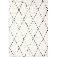 Handgefertigter Teppich Moderna Moroccan in Elfenbein