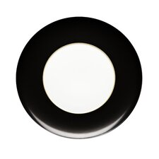 "Domo Black 12.56"" Large Band Charger Plate (Set of 2)"