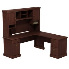 Syndicate L-Shape Office Desk with Hutch