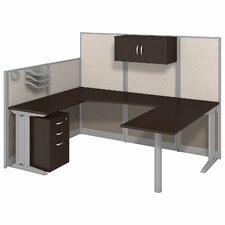 Office in an Hour U-Workstation with Storage and Accessories