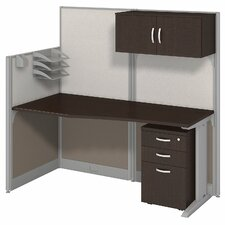 Office in an Hour Straight Workstation with Storage and Accessories