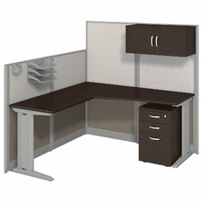 Office in an Hour L-Workstation with Storage and Accessories