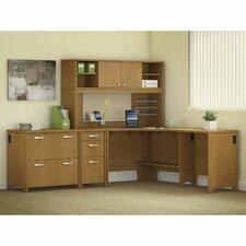 Envoy 5-Piece L-Shape Desk Office Suite