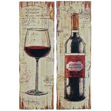 Wandbilder-Set Guter Wein - 90 x 30 cm