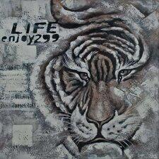 Wandbild Tiger - 100 x 100 cm