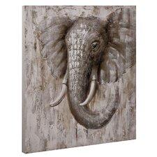 "Leinwandbild ""Elefant"", Kunstdruck"