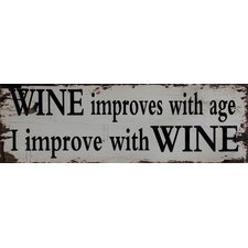 Wine Improves Wall Art