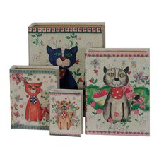 4-tlg. Buchkassetten-Set Cats