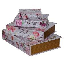 4-tlg. 4-tlg. Buchkassetten-Set Lavender