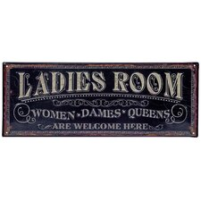 Ladies Room Wall Sign