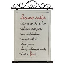 House Rules Wall Sign