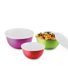 Microwave Safe Stainless Steel Bowls 6pc Set