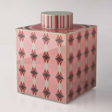 Geometric Lacquer Tea Caddy