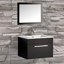 """Nepal 24"""" Single Sink Bathroom Vanity Set with Mirror"""