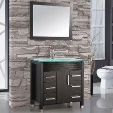 "Figi 48"" Single Sink Bathroom Vanity Set with Mirror"