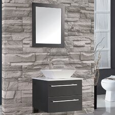 "Malta 24"" Single Sink Wall Mounted Bathroom Vanity Set with Mirror"