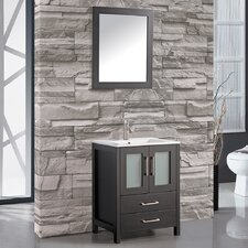 "Argentina 24"" Single Sink Bathroom Vanity Set with Mirror"