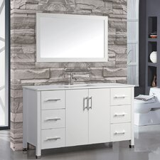 "Monaco 60"" Single Sink Bathroom Vanity Set with Mirror"