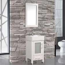 "Malta 18"" Single Sink Bathroom Vanity Set with Mirror"