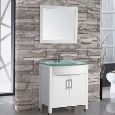 "Figi 32"" Single Sink Bathroom Vanity Set with Mirror"