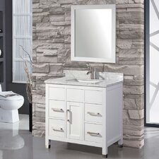 "Ricca 36"" Single Sink Bathroom Vanity Set with Mirror"