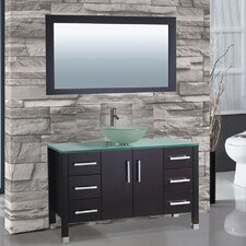 "Cuba 48"" Single Sink Bathroom Vanity Set with Mirror"